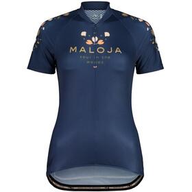 Maloja RubinieM. 1/2 Short Sleeve Bike Jersey Women, niebieski
